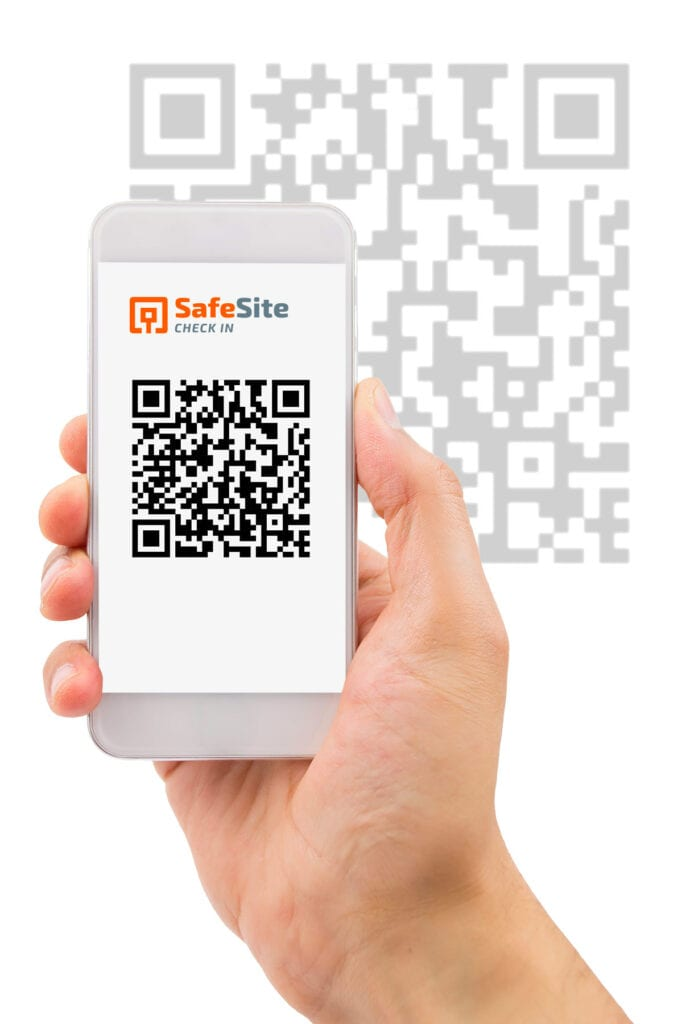 Safe Site Check In QR Code on Phone